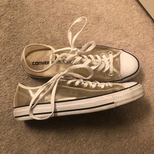 Clear see through converse